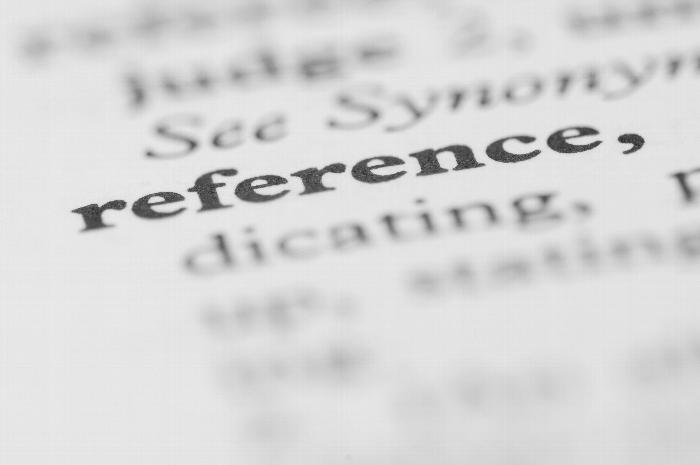 The-word-Reference-in-a-dictionary